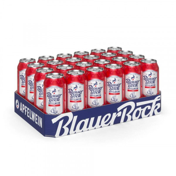 Blauer Bock Apfelwein - Pur - 24x 0,5 l EINWEG-Dose