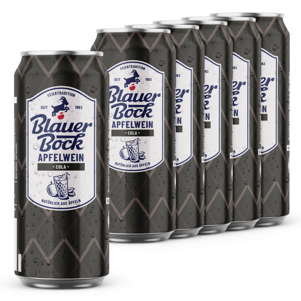 Blauer Bock Apfelwein - Cola - 6x 0,5 l EINWEG-Dose